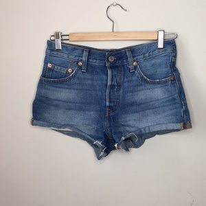 Levi's Jean shorts button fly front